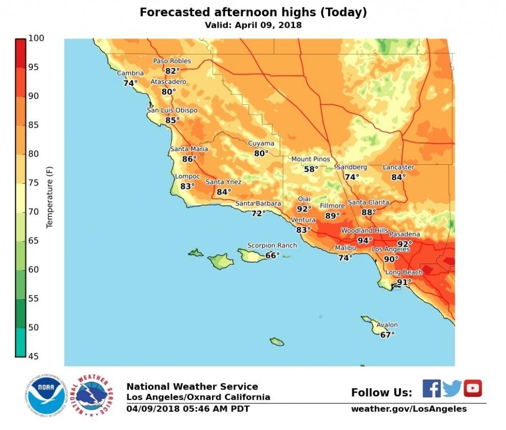 How Long Will Southern California Heat Last? – Daily News Inside Los - California Heat Map