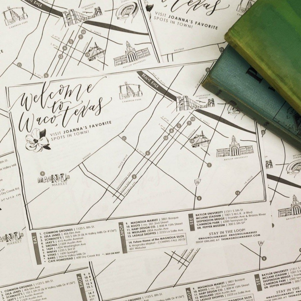 How The Market Came To Be + Joanna's Favorite Waco Places | Places - Magnolia Texas Map