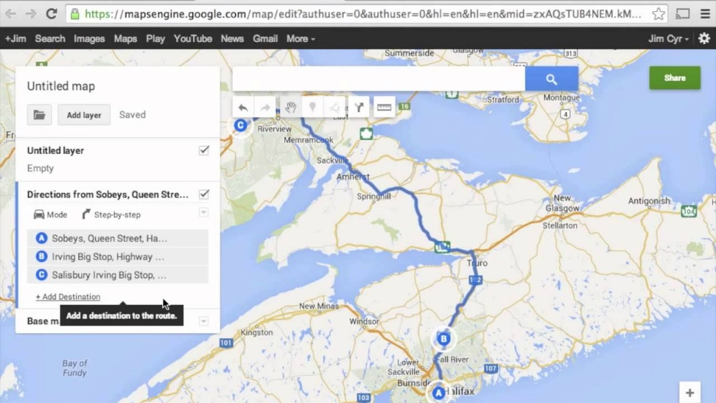 How To Import Google Maps Directions (Routes) To Garmin Basecamp - Google Maps Florida Driving Directions
