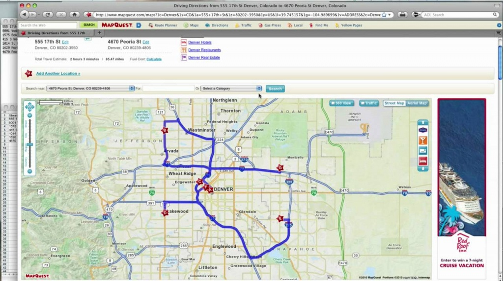 How To -- Mapquest Route Planner - Youtube - Printable Map Route Planner