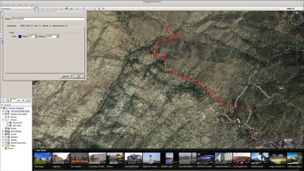 How To Plan A Off Road Ride In Google Earth And Import To Lowrance - Off Road Maps California