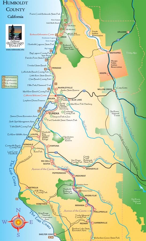 Humboldt County California Map - Humboldt County Ca • Mappery - Trinidad California Map