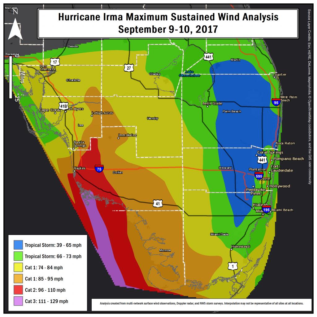 Hurricane Irma Local Report/summary - Miami Florida Radar Map