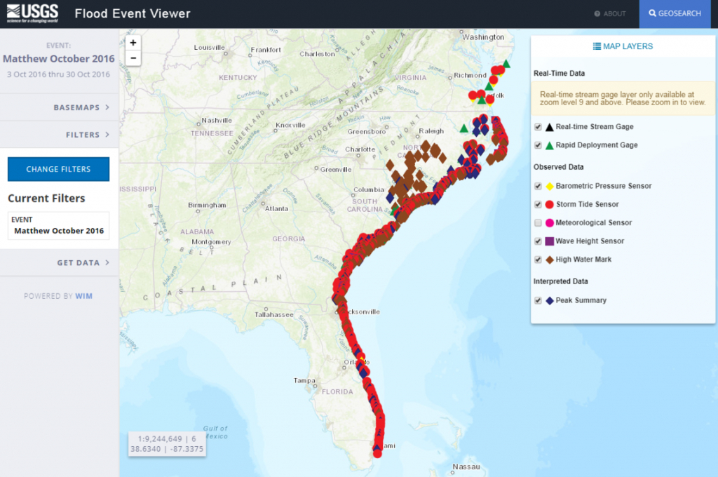 Hurricane Matthew: Flood Resources And Tools - South Florida Flood Map