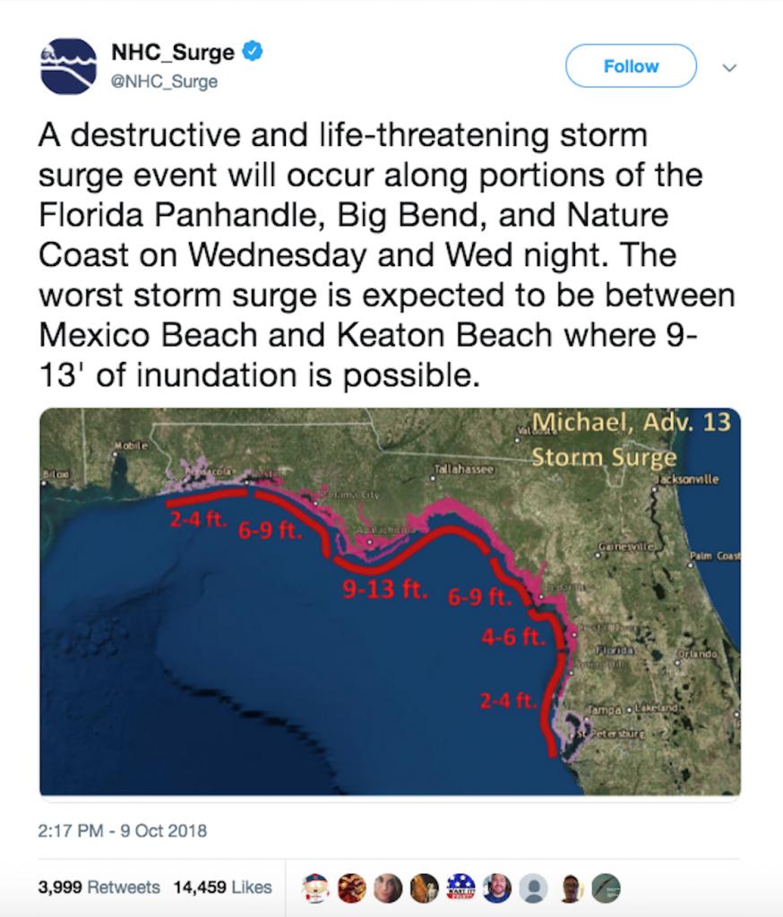 Hurricane Michael - Timeline, Aftermath & Statistics - Mexico Beach Florida Map