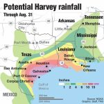 Hurricane Warnings Issued Along Texas Coast As Tropical Storm Harvey - Map Of Texas Coast
