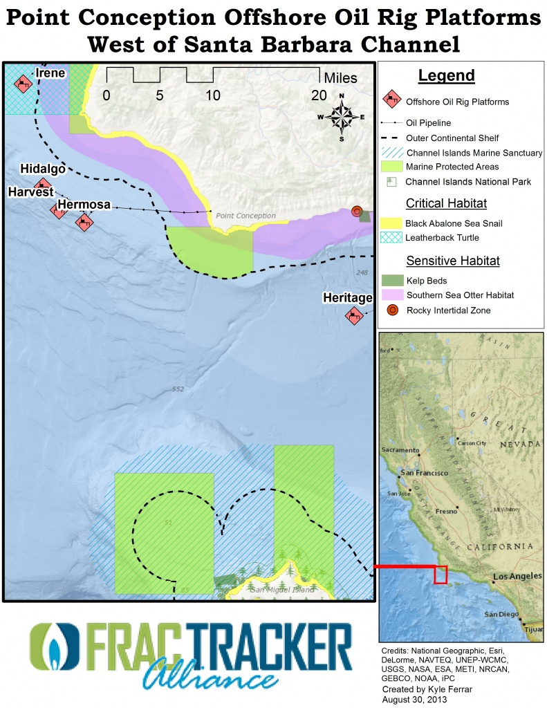 Hydraulic Fracturing Offshore Wells On The California Coast - Fracking In California Map