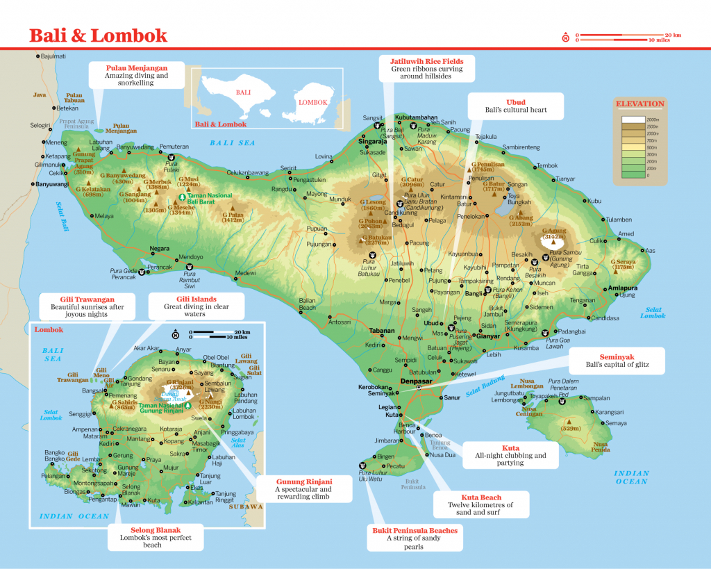 I Found The Best Map Of Bali -- From Lonely Planet. Print It Out - Printable Map Of Bali