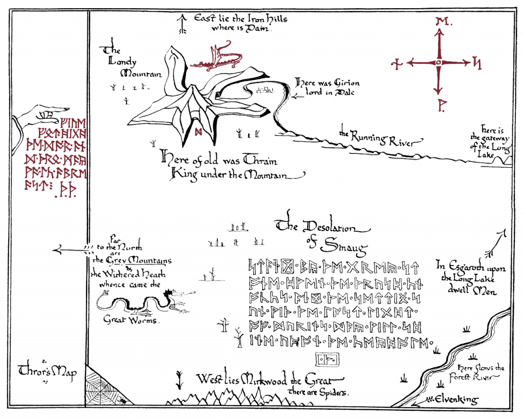 I Made A Printable Version Of Thror's Map.(X-Post From R/tolkienfans - Printable Hobbit Map
