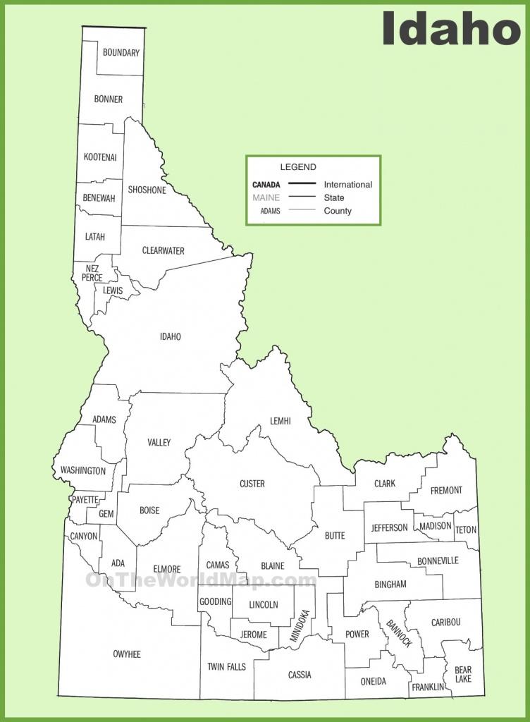 Idaho County Map - Printable Map Of Idaho