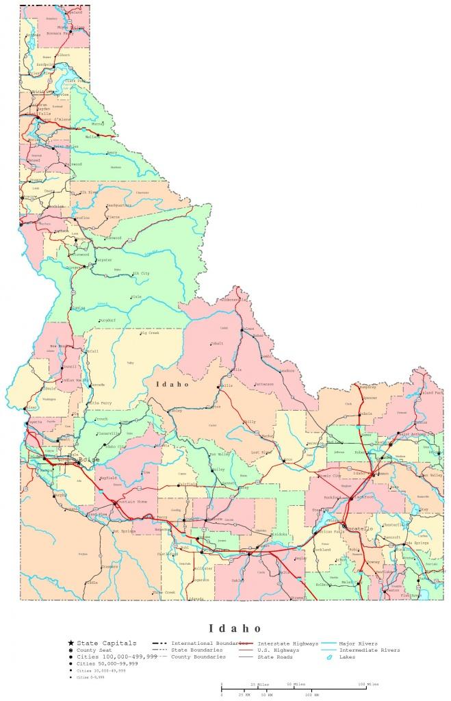 Idaho Printable Map - Printable Map Of Idaho