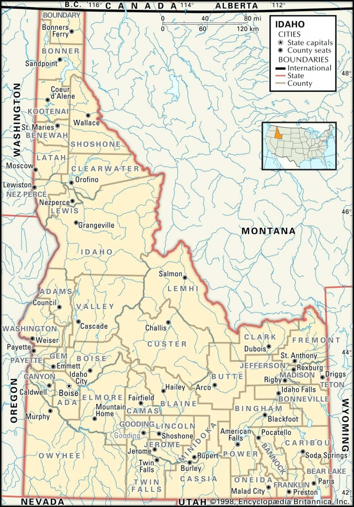 Idaho State Map Campus Map Of Idaho State Map Printable – Observ.club - Printable Map Of Idaho