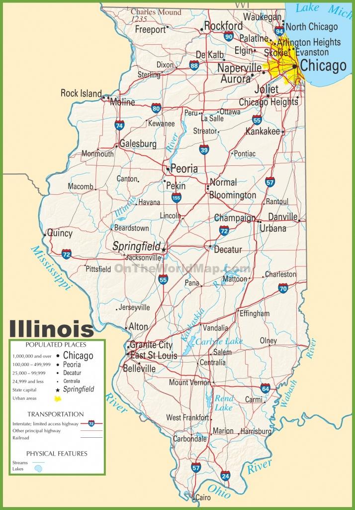 Illinois Highway Map - Printable Map Of Illinois