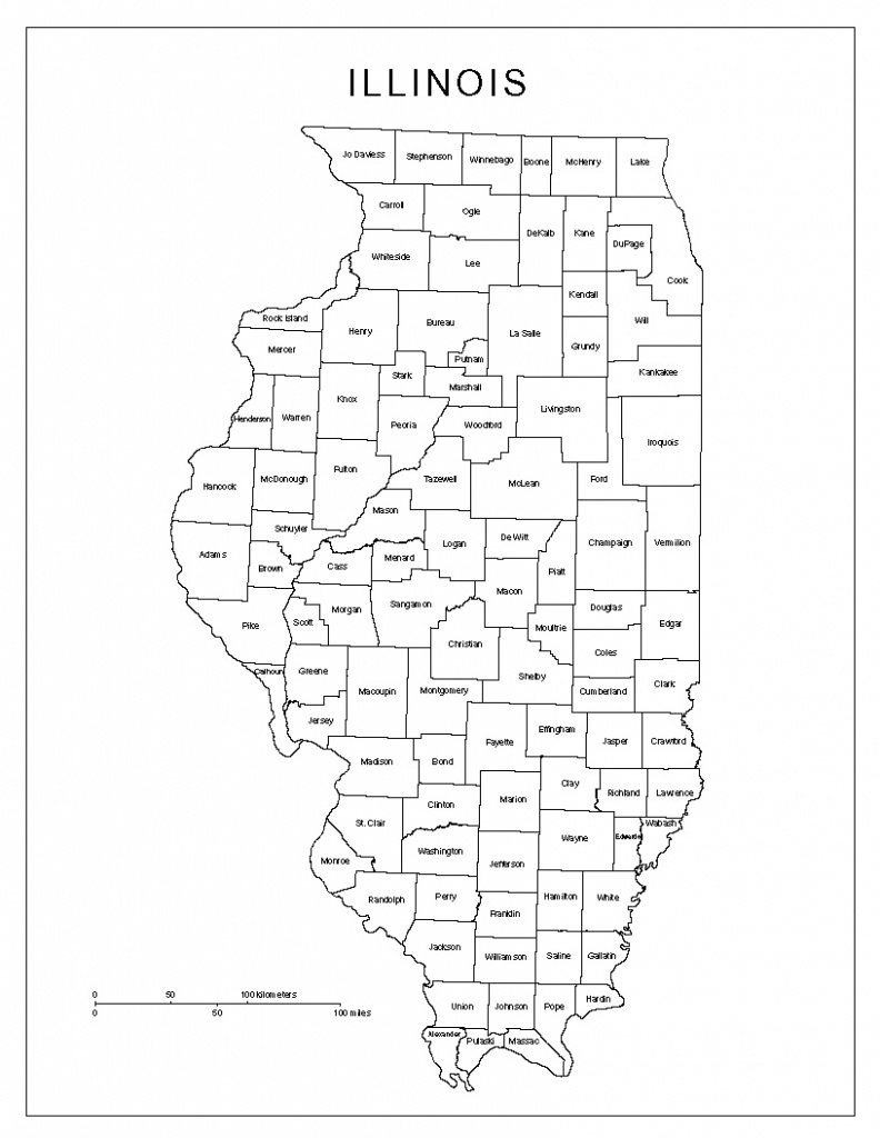 Illinois Labeled Map - Printable Map Of Illinois