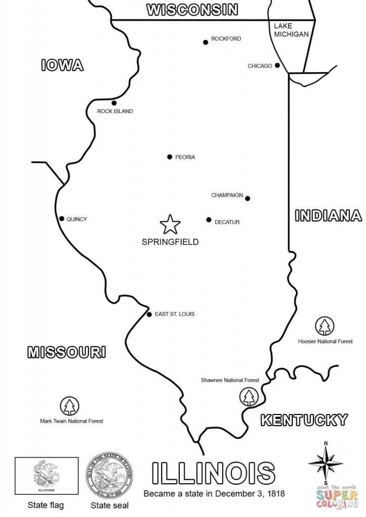 Illinois State Map Printable