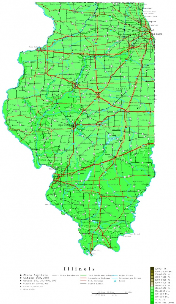 Illinois Map - Online Maps Of Illinois State - Printable Map Of Champaign Il