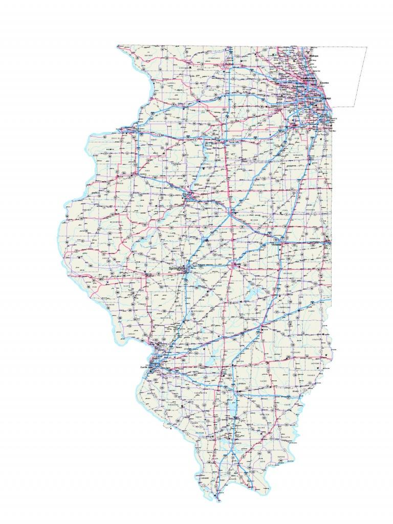 Illinois Maps - Illinois Map - Illinois Road Map - Illinois State Map - Illinois County Map With Cities Printable