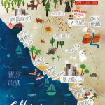 Illustrated Map Of California On Behance. Call Gwin's To Go! 314 822   Illustrated Map Of California