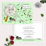Illustrated Map Party Or Wedding Invitationcute Maps   Maps For Wedding Invitations Free Printable