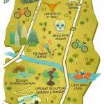 Illustrated Maps Of Atlanta, Ga, Austin, Tx, And Seattle, Wa For The   Atlanta Texas Map