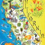 Illustrated Tourist Map Of California. California Illustrated   California Attractions Map