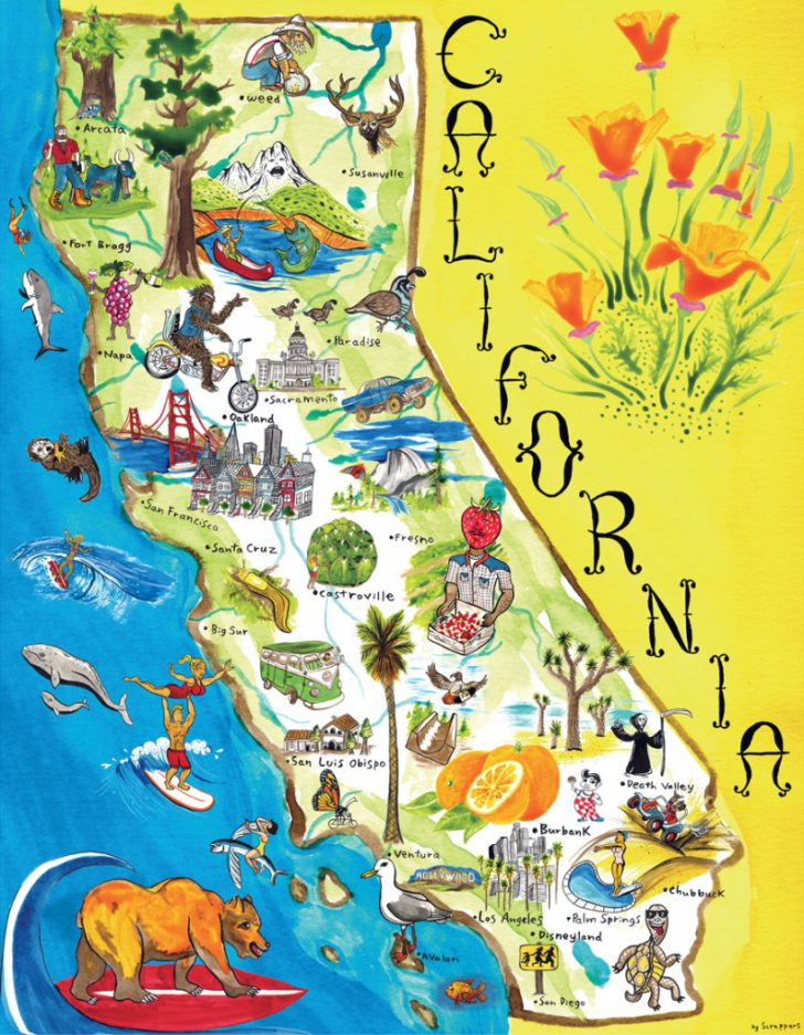 California Attractions Map
