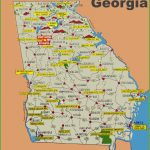 Illustrated Tourist Map Of Georgia   Printable Map Of Georgia