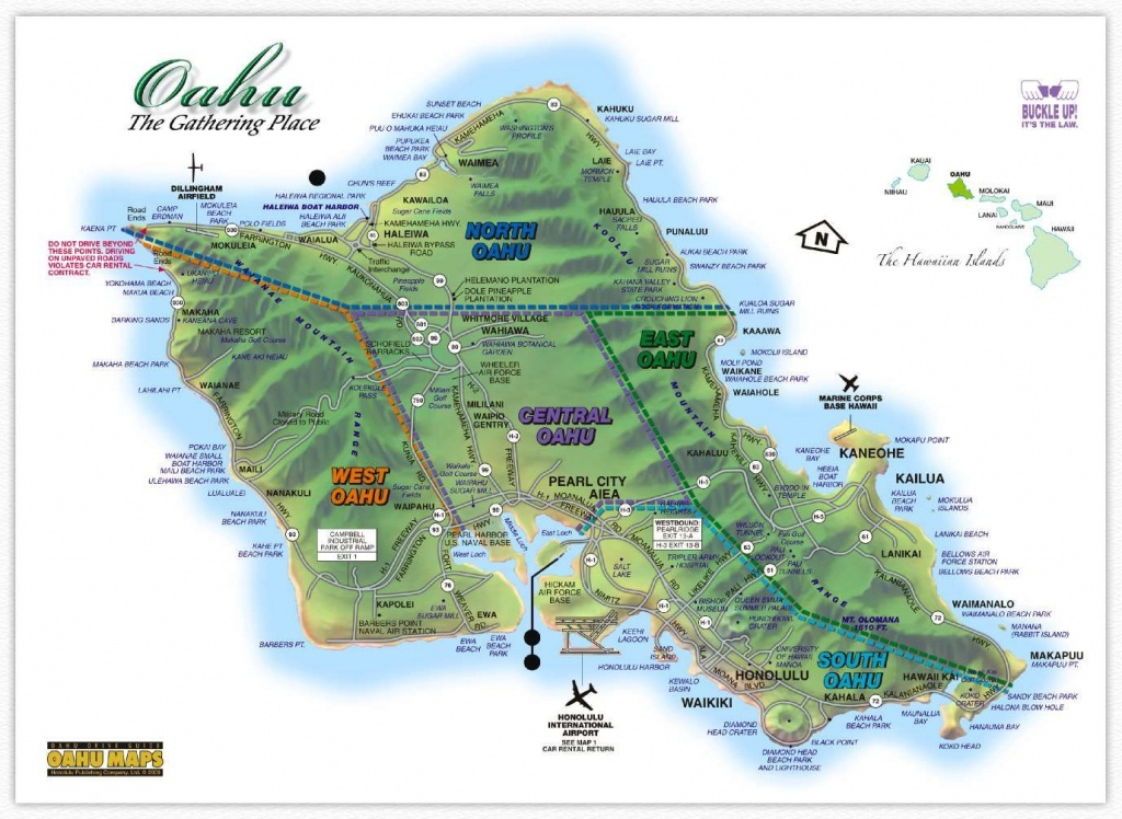 Image Result For Oahu Map Printable | Hawaii In 2019 | Oahu Map - Map Of The Big Island Hawaii Printable
