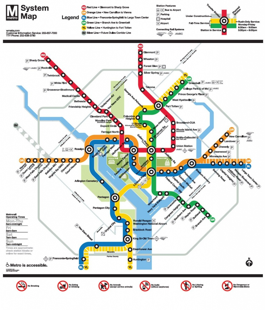 Image Result For Wmata Map | Ui Feature - Nidc【2019】 | Washington - Washington Dc Subway Map Printable