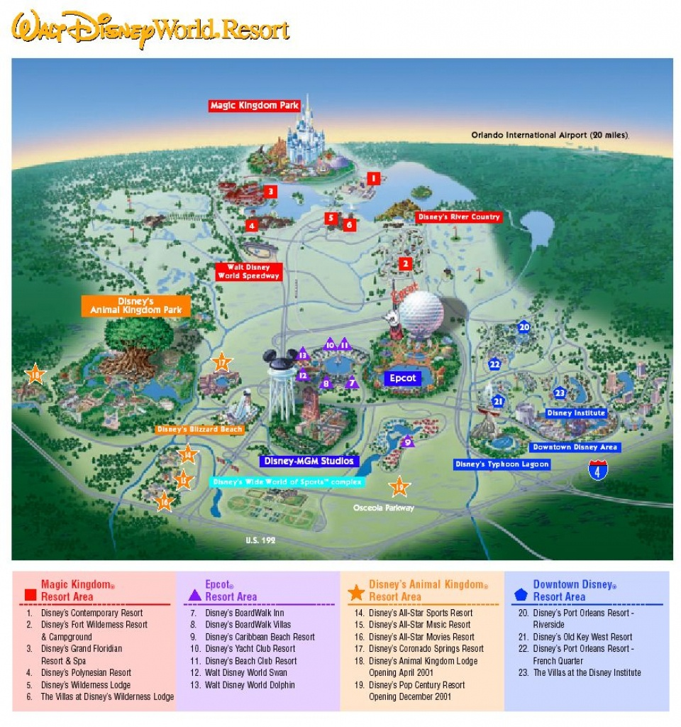 Images Of Disneyworld Map | Map Of Disney World Parks | A Traveling - Printable Maps Of Disney World Theme Parks