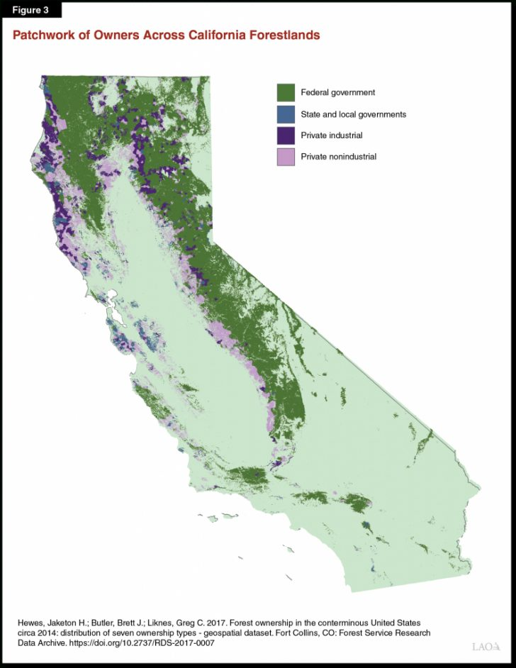California Forests Map