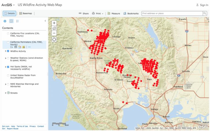 Current Fire Map California