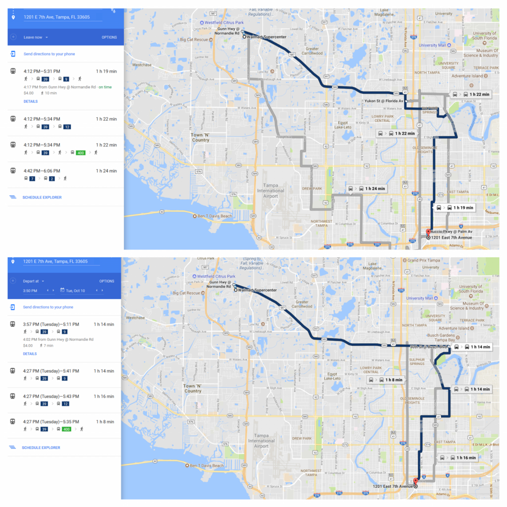 In Transit - The Official Hart Transit Blog: Plan Your Mission Max - Google Maps Tampa Florida