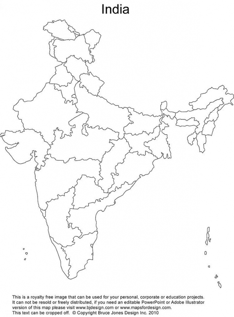 India Outline Map Printable   Rivers Of India   India Map, India - Political Outline Map Of India Printable