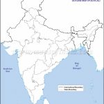 India Political Map In A4 Size   India Outline Map A4 Size Printable