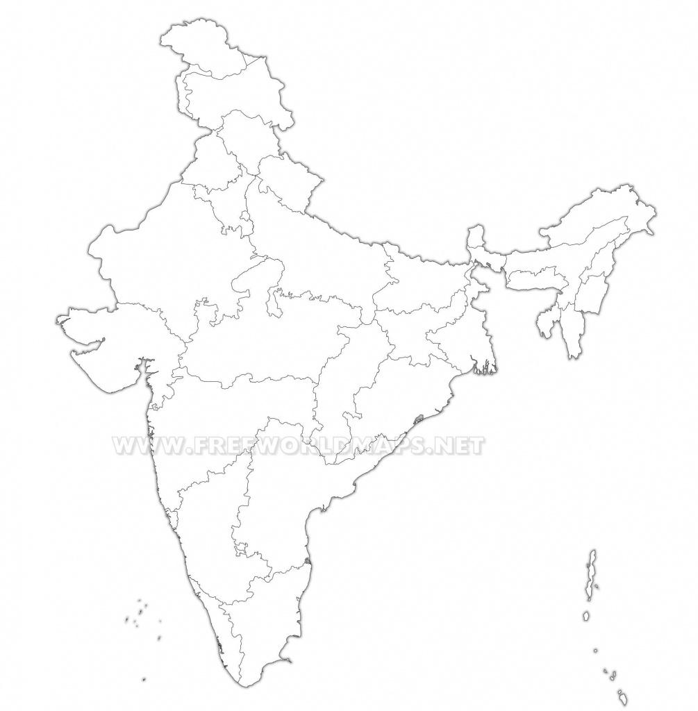 India Political Map - India Political Map Outline Printable