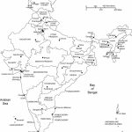 India Printable, Blank Maps, Outline Maps • Royalty Free   India Outline Map A4 Size Printable