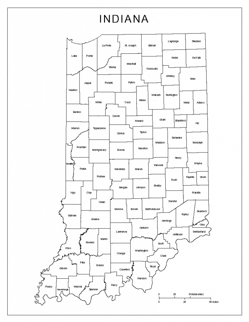 Indiana Labeled Map - Indiana State Map Printable
