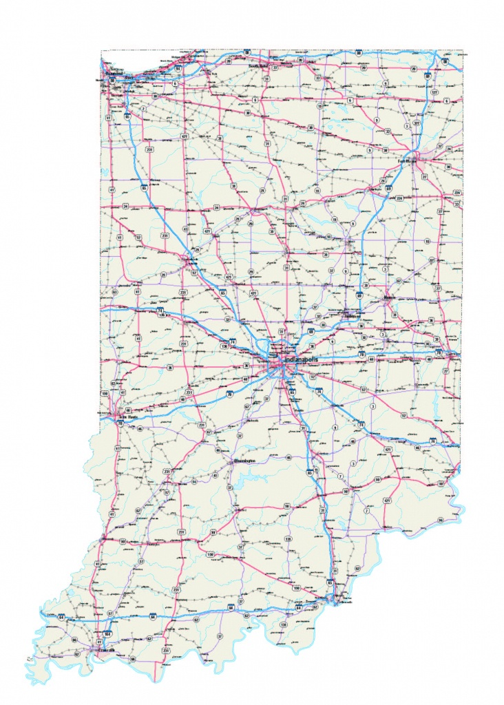 Indiana Maps - Indiana Map - Indiana Road Map - Indiana State Map - Indiana State Map Printable