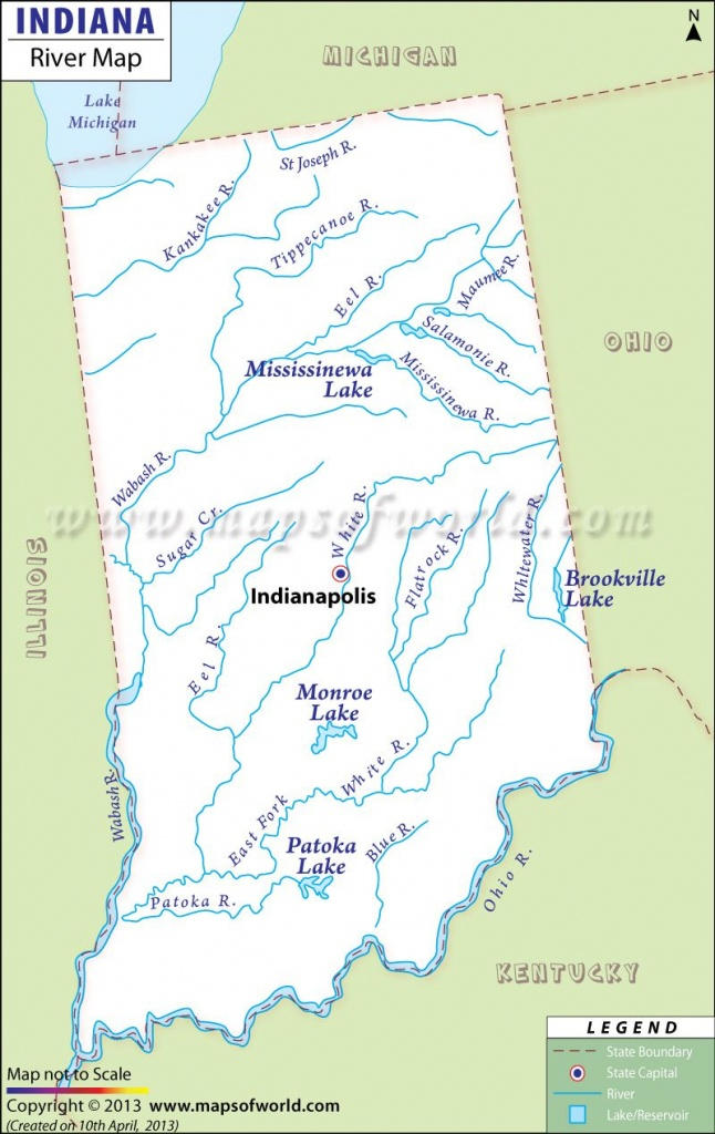 Indiana River Map | Notre Dame In 2019 | Indiana Map, Indiana State - Michigan River Map Printable