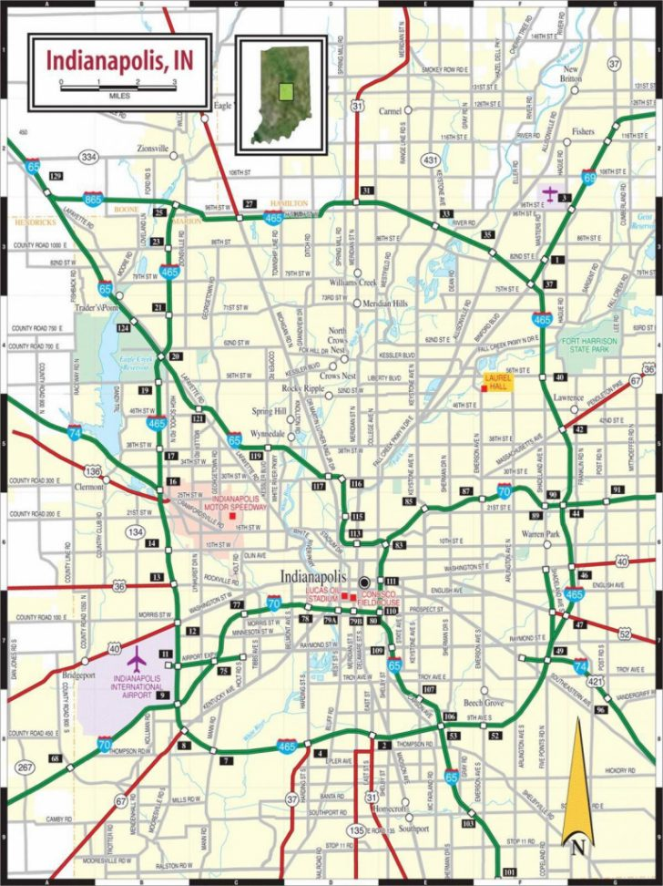 Printable Map Of Indianapolis