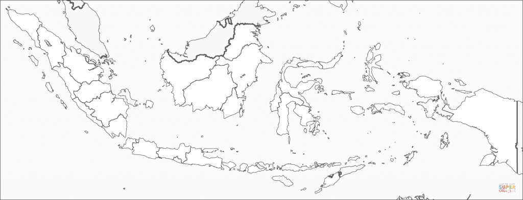 Indonesia Map Coloring Page | Free Printable Coloring Pages - Printable Map Of Indonesia