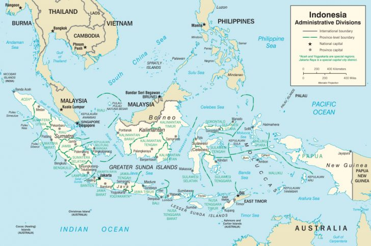 Printable Map Of Indonesia