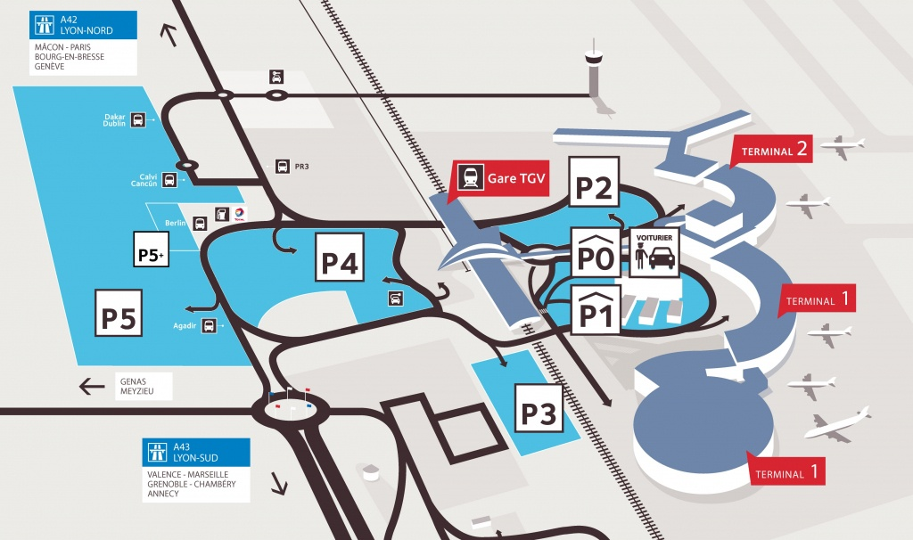 Informations Parkings Aéroport Lyon-Saint Exupéry - Texas Rangers Parking Map 2018