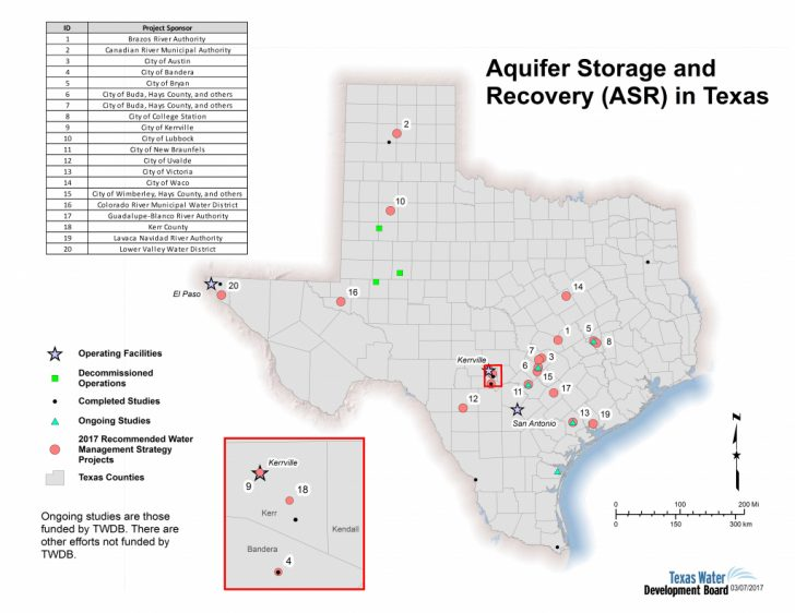 Texas Water Development Board Well Map