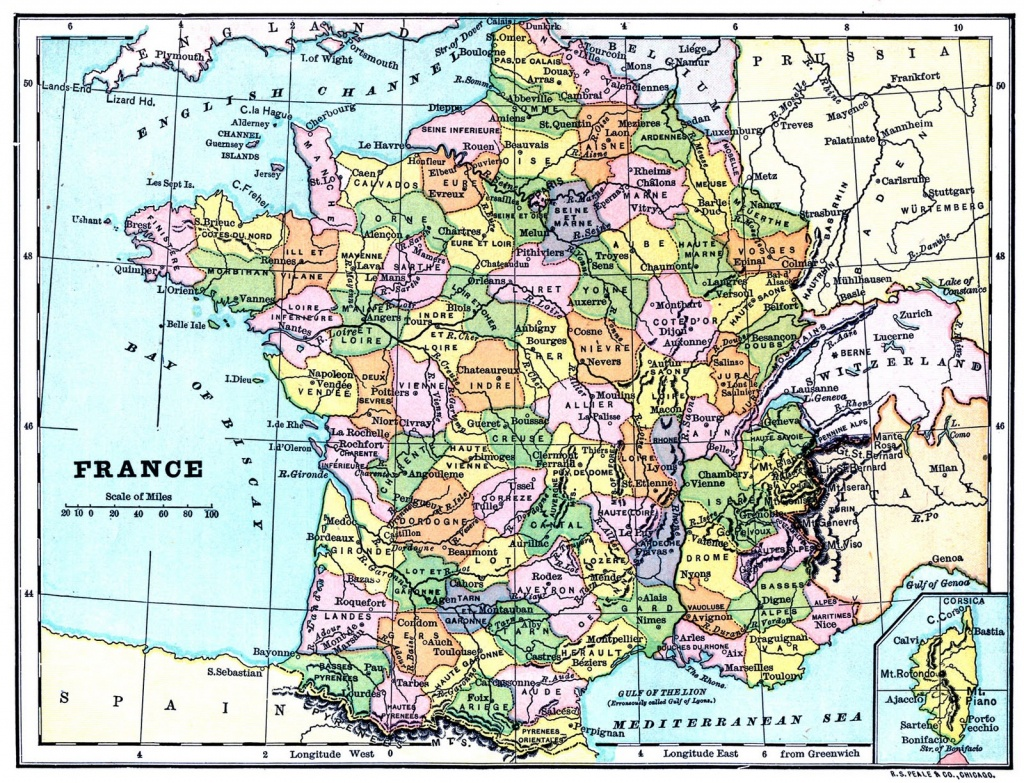 Instant Art Printable - Map Of France - The Graphics Fairy - Large Printable Map Of France