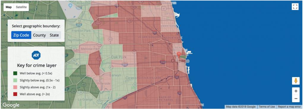 Interactive Crime Maps | Adt Security - Orange County Florida Crime Map