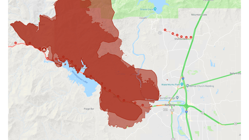 Interactive Map: A Look At The Carr Fire Burning In Shasta County - Interactive Map Of California Fires