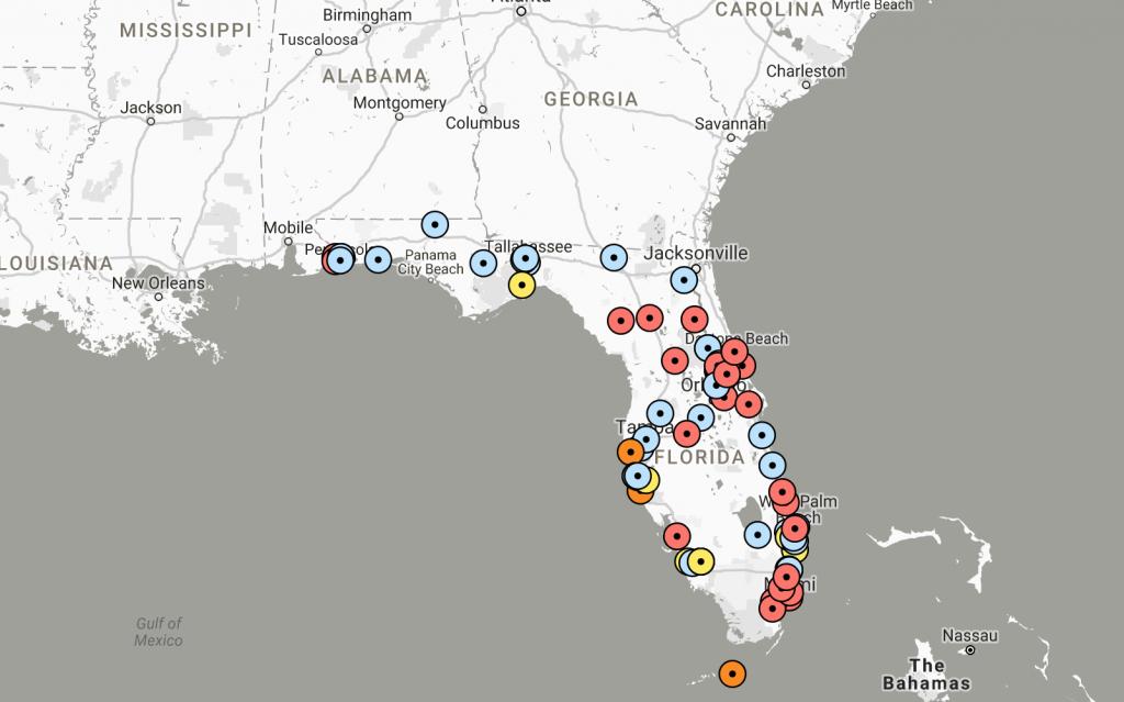 Interactive Map: Threats Against Florida Schools Since Shooting - Interactive Map Of Florida