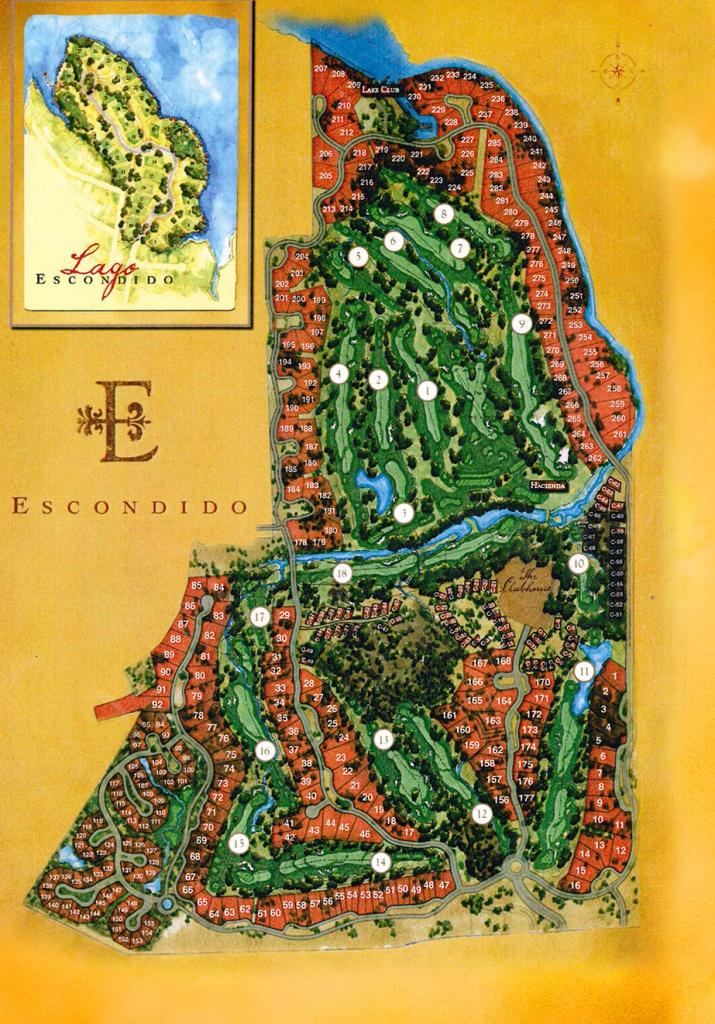Interactive Property Map - Escondido Golf And Lake Club - Texas Property Map